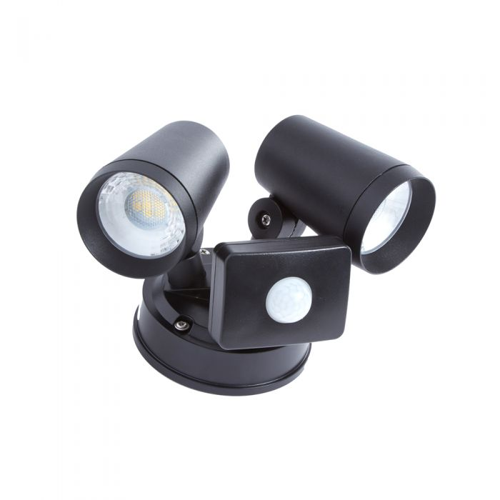 Aplique Mural Doble Exterior LED 16W IP65 Negra – Wels