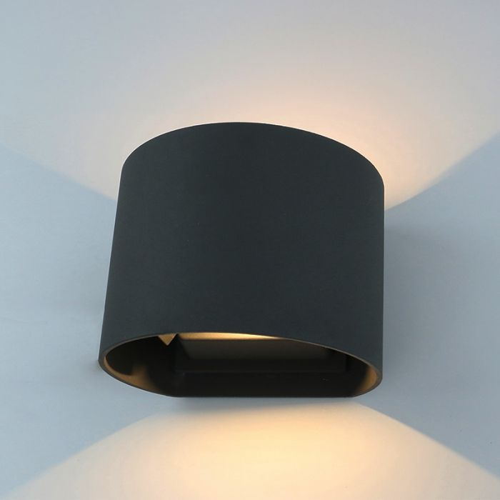 Biard Apliqué Orientable Mural LED Ascendente/Descendente IP54 para Exteriores - Negro