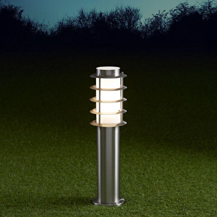 Biard Sobremuro LED de 450mm para Exteriores de Acero Inoxidable y Bombilla E27 - Belfort