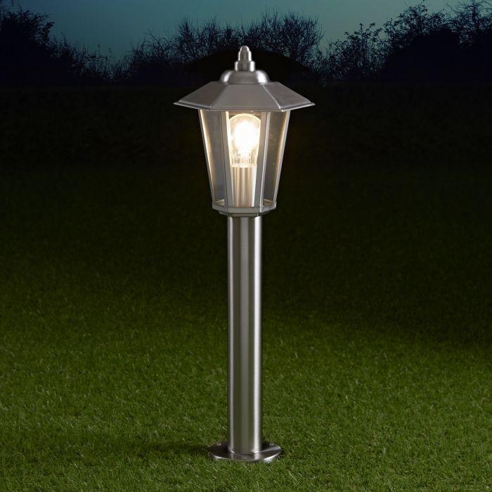 Biard Sobremuro LED 600mm para Exteriores estilo Farol 4W de Acero Inoxidable y Bombilla E27 - Cannes