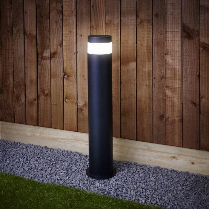 Baliza LED de Color Negro para Espacios Exteriores - Gols