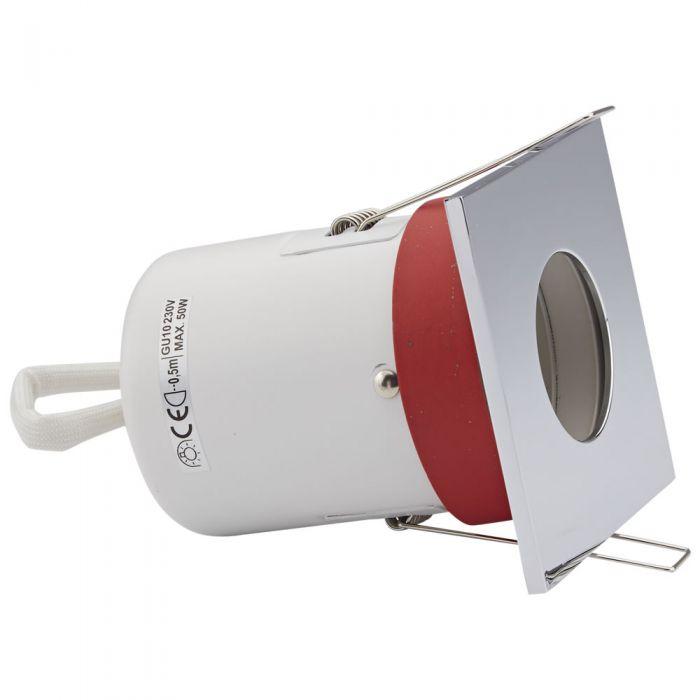 Biard Foco Downlight Inclinable Empotrable de Techo Clasifícación Ignífuga GU10 con Bisel Cuadrado Disponible en 3 Colores
