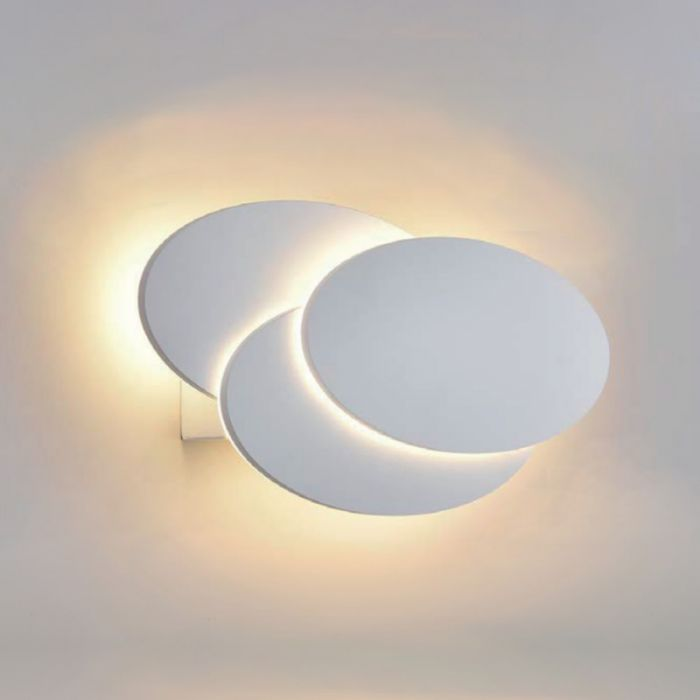 Biard Aplique LED Redondo Retroiluminado para Interiores Blanco - Piran