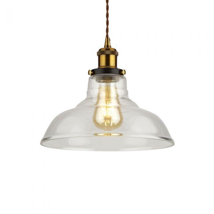 Biard Lámpara de Techo Retro de Latón y Vidrio Disponible con Diferentes Acabados - Haga