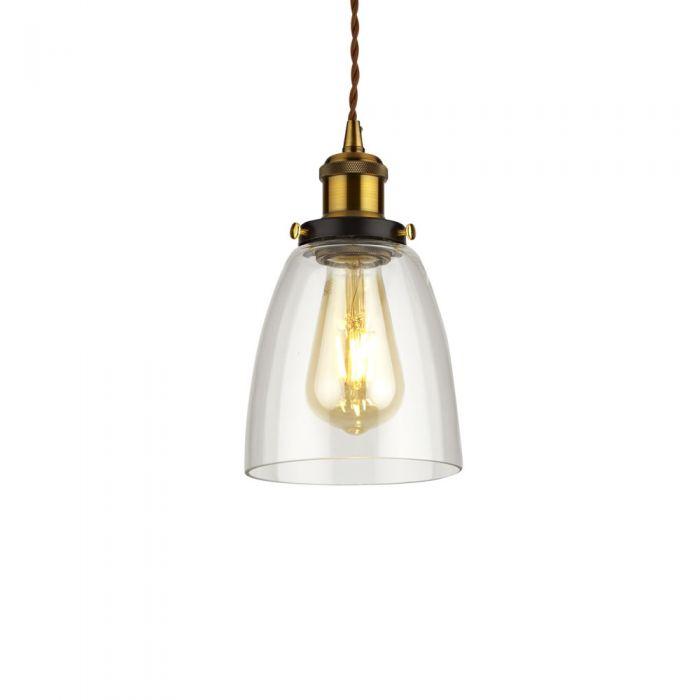 Biard Lámpara de Techo Retro de Latón y Vidrio Disponible con Diferentes Acabados - Praga