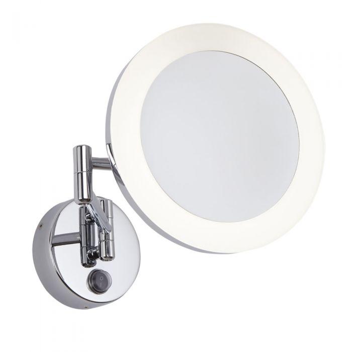 Espejo de Aumento x3 Mural LED Redondo para Baño con Brazo Extensible  - Monoun