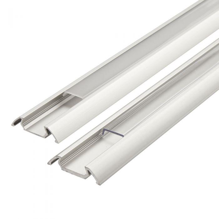Biard Perfil de Superficie para Tiras LED 100cm Blanco