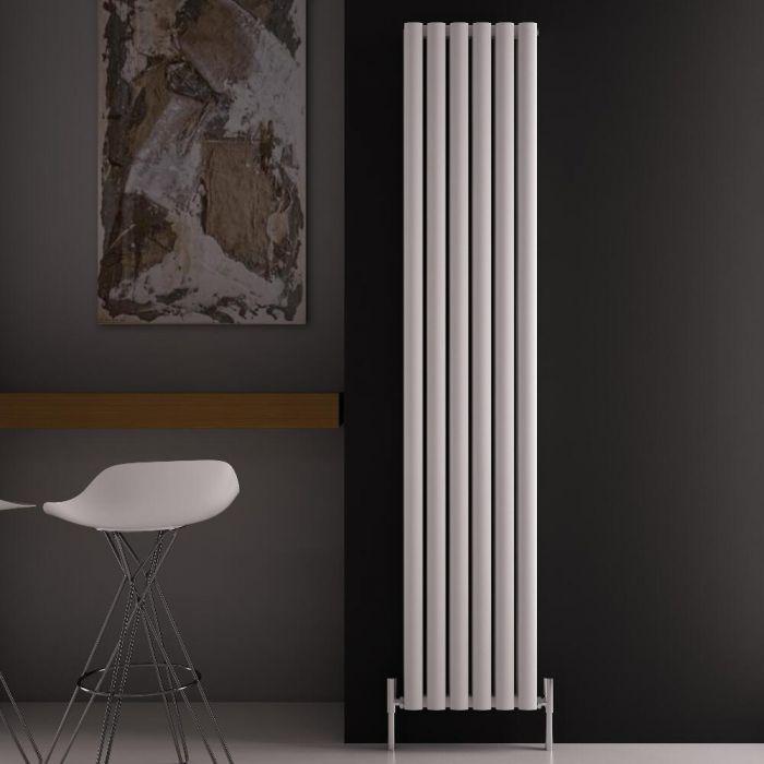 Radiador de Diseño Vertical Doble - Blanco - 1800mm x 350mm x 76mm - 1502 Vatios - Revive Air