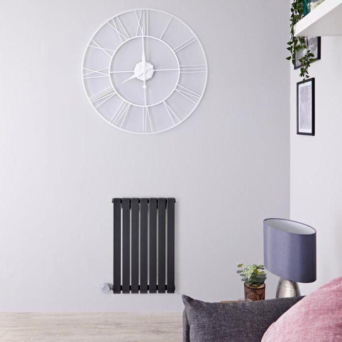 Radiador de Diseño Eléctrico Horizontal - Antracita - 635mm x 420mm x 54mm -  Elemento Termostático de 400W  - Sloane