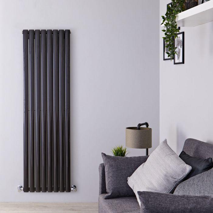 Radiador de Diseño Vertical Negro Disponible en Distintos Tamaños -  Revive