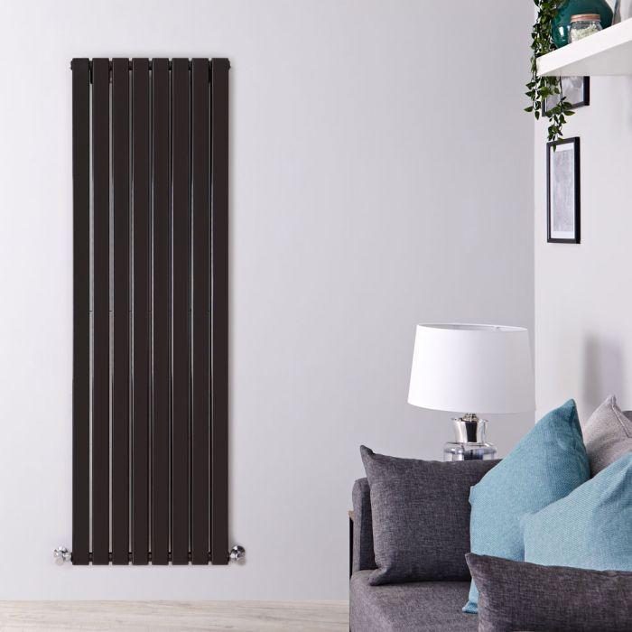 Radiador de Diseño Vertical Doble - Negro Lúcido - 1600mm x 560mm x 60mm - 1764 Vatios - Delta