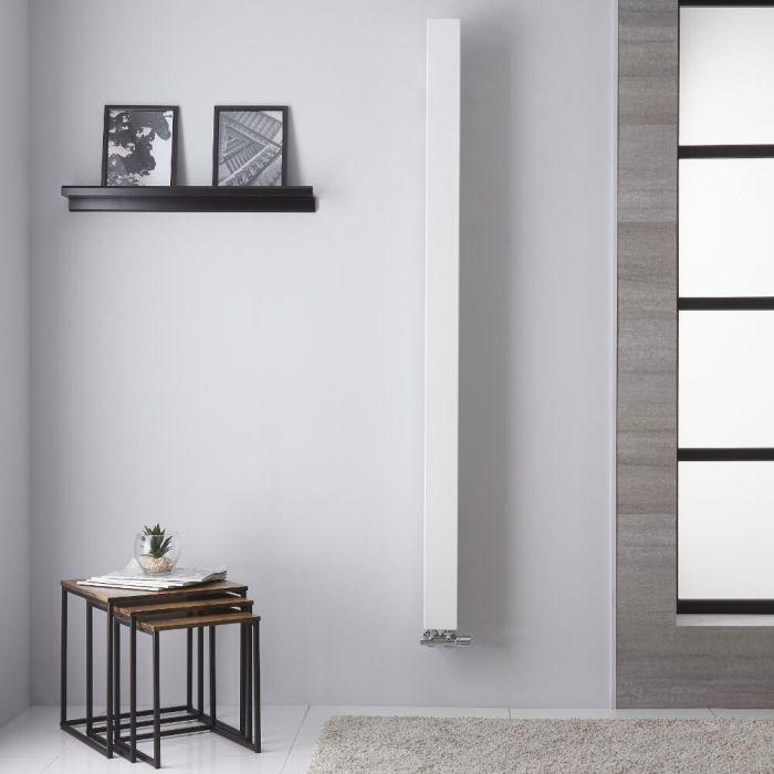 Radiador de Diseño Vertical - Blanco - 1800mm x 100mm - 559 Vatios - Uno
