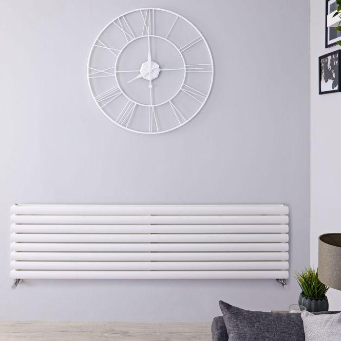 Radiador de Diseño Horizontal Doble - Blanco - 472mm x 1600mm x 78mm - 1610 Vatios - Revive