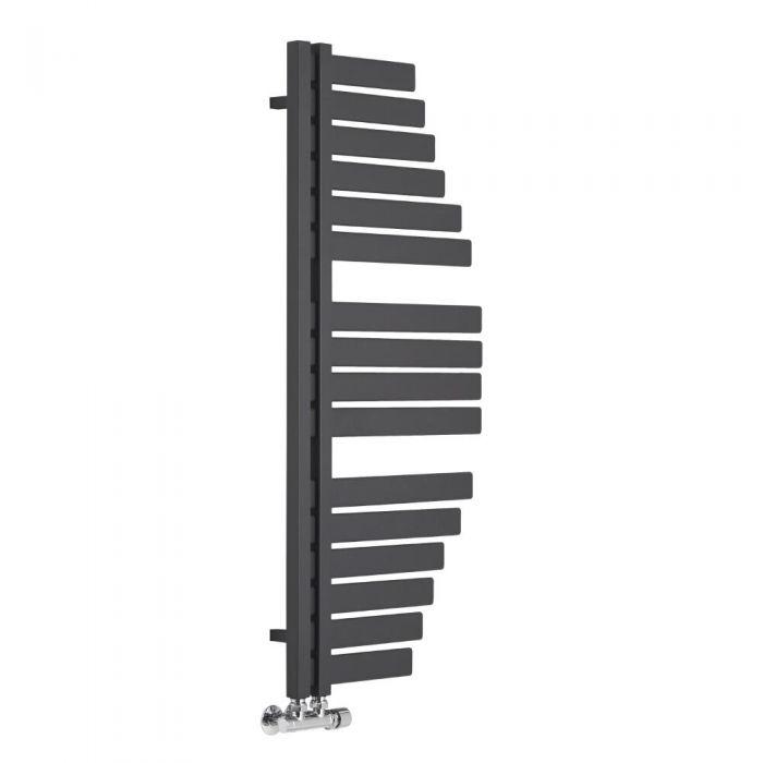 Radiador Toallero de Diseño Vertical - Color Antracita - 1100mm x 483mm - 563 Vatios - Lazio