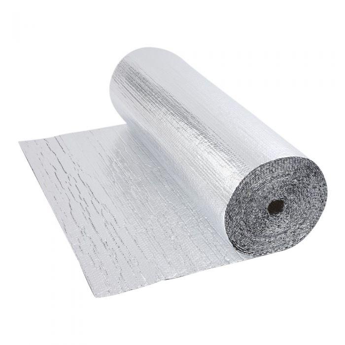 Rollo de Aislante Térmico de Aluminio de Doble Capa con Burbujas de Doble Cara  10m x 1,2m -12m2
