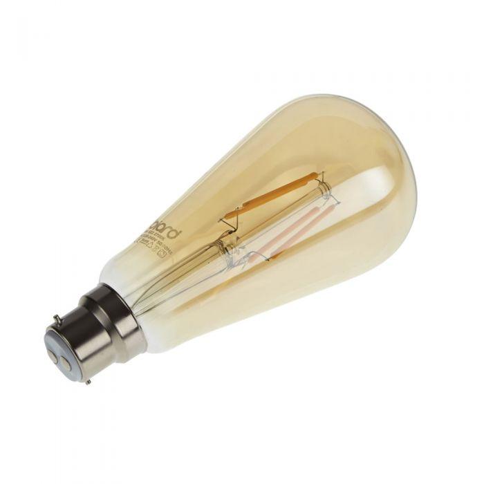 Biard Conjunto con 6 Bombillas LED B22 6W con Filamentos e Intensidad Luminosa Regulable en Estilo Tradicional