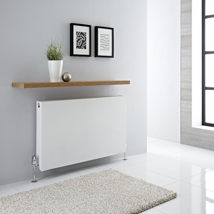 Radiador Convector Horizontal con Panel Doble - Blanco - 600mm x 1000mm x 103mm - 2165 Vatios - Type 22