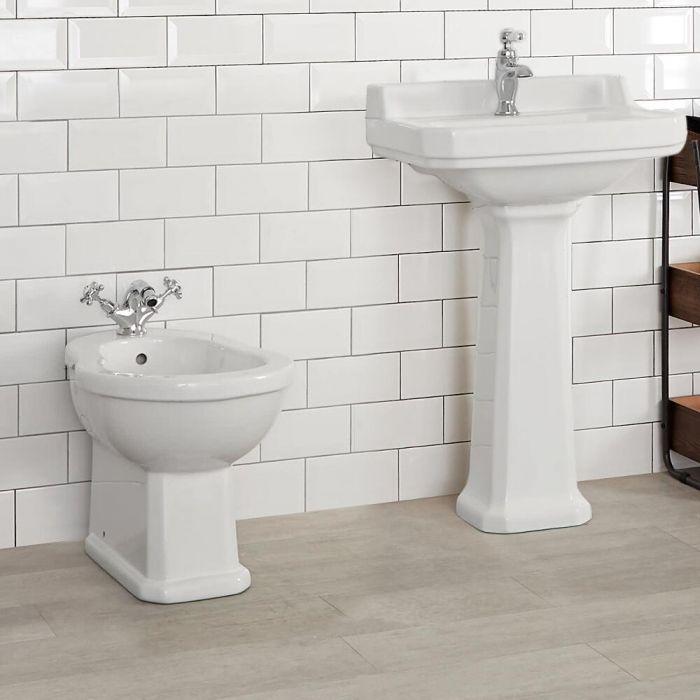 Bidé de Cerámica Color Blanco de 405x390x565mm