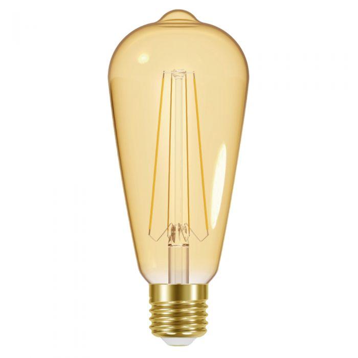 Conjunto de 6 Bombillas Doradas con Filamentos LED 5W E27 ST64 - Energizer