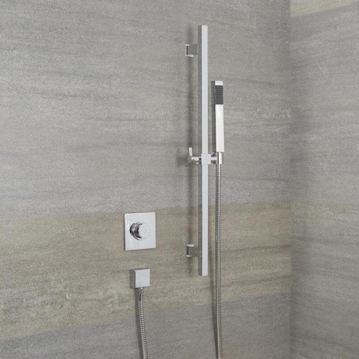 Ducha Digital con Sistema de Control de 1 Salida con Barra de Ducha Deslizante y Telefonillo Minimalista - Narus
