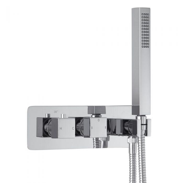 Mezclador de Ducha Empotrable de 2 Funciones con Desviador Integrado con Telefonillo- Arvo