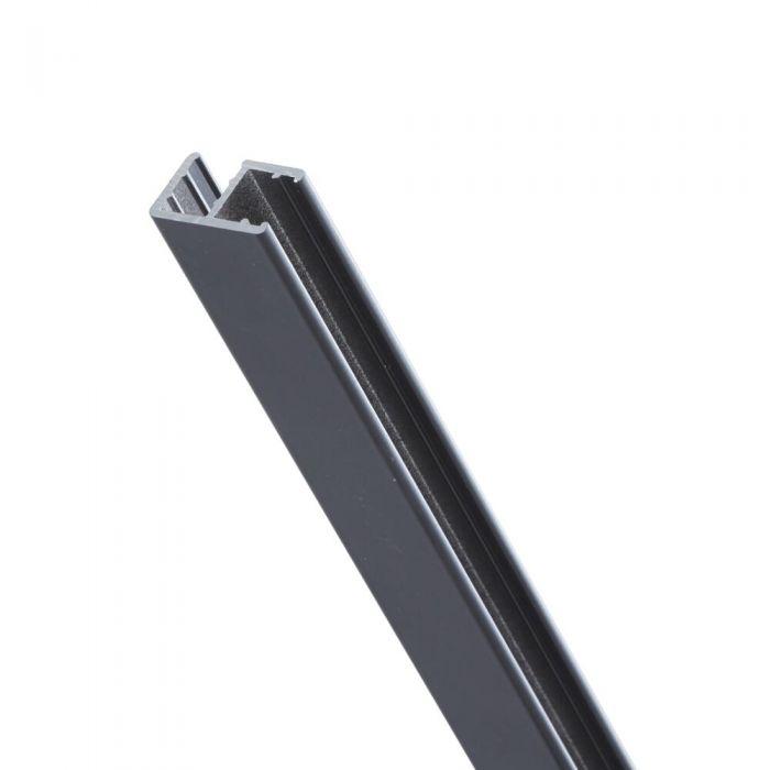 """Perfil Estabilizador Negro de 1950mm a Forma de """"L"""" para Mamparas de Ducha - Nox"""