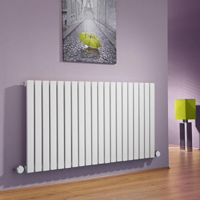 Radiador de Diseño Eléctrico Horizontal - Blanco - 635mm x 1180mm x 54mm -  2 Elementos de 800W  - Sloane
