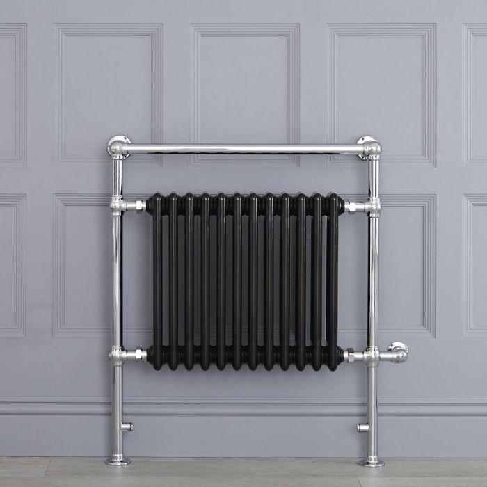 Radiador Toallero Tradicional con Elemento Eléctrico de 800 Watt - Negro - 930mm x 790mm - Avon