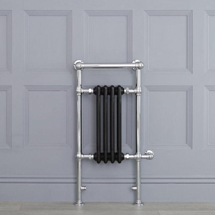Radiador Toallero Tradicional con Elemento Eléctrico de 400 Watt - Negro - 930mm x 450mm - Avon