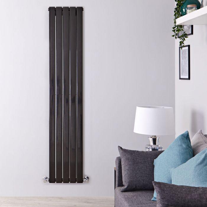 Radiador de Diseño Vertical Doble - Negro Lúcido - 1780mm x 350mm x 60mm - 1236 Vatios - Delta