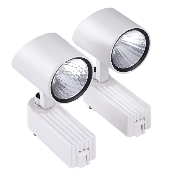 Biard 2 Focos de Carril de Techo LED COB 7W - Blanco