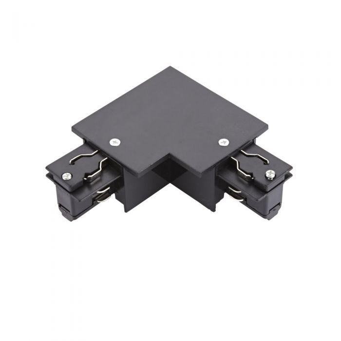 Biard Conector de Alimentación L Empotrable Para Sistemas de 3 Circuitos - Negro