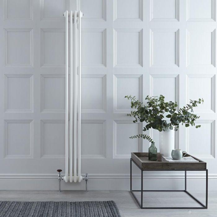 Radiador de Diseño Vertical Triple Tradicional - Blanco - 1800mm x 200mm x 100mm - 779 Vatios - Regent