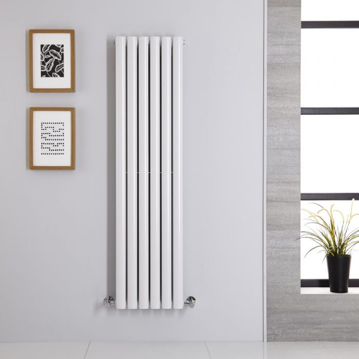 Radiador de Diseño Vertical Doble - Blanco - 1400mm x 354mm x 78mm - 1044 Vatios - Revive