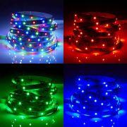 Biard Tira de 300 Luces LED de 12V IP20 de 5 Metros RGB Color Rojo Verde y Azul -3528