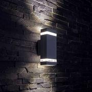 Biard Apliqué de Pared Exterior Bidireccional con Diseño Cúbico Architect Negro