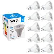 Biard 10x Focos Spot LED GU10 de Techo de Repuesto 4W Equivalente a 35W