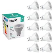 10x Focos Spot LED GU10 de Techo 6W con Intensidad Luminosa Regulable