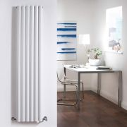 Radiador de Diseño Vertical Doble - Blanco - 1600mm x 354mm x 78mm - 1228 Vatios - Revive