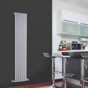 Radiador de Diseño Vertical - Plateado - 1600mm x 354mm x 54mm - 861 Vatios - Sloane