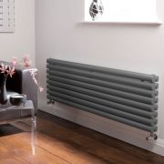 Radiador de Diseño Horizontal Doble - Antracita - 472mm x 1600mm x 78mm - 1610 Vatios - Revive