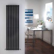 Radiador de Diseño Vertical Doble - Negro - 1600mm x 472mm x 78mm - 1638 Vatios - Revive