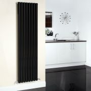 Radiador de Diseño Vertical Doble - Negro - 1780mm x 472mm - 1868 Vatios - Revive