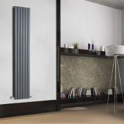 Radiador de Diseño Vertical Doble - Antracita - 1780mm x 354mm x 72mm - 1448 Vatios - Sloane
