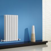 Radiador de Diseño Horizontal Doble - Blanco - 635mm x 420mm x 71mm - 653 Vatios - Sloane