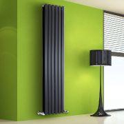 Radiador de Diseño Vertical Doble - Negro - 1780mm x 420mm x 86mm - 1618 Vatios - Rombo