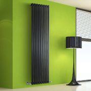 Radiador de Diseño Vertical - Negro Lúcido - 1780mm x 560mm x 60mm - 1401 Vatios - Rombo