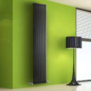 Radiador de Diseño Vertical - Negro - 1780mm x 420mm x 60mm - 1050 Vatios - Rombo