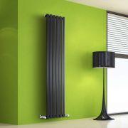 Radiador de Diseño Vertical - Negro - 1600mm x 420mm x 60mm - 946 Vatios - Rombo