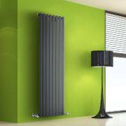 Radiador de Diseño Vertical - Antracita - 1600mm x 560mm x 60mm - 1261 Vatios - Rombo
